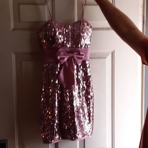 Dave & Johnny Pink Sequin Dress Size 0